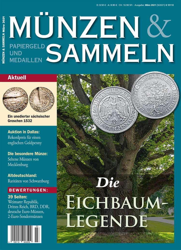 Münzen & Sammeln Ausgabe 03/2021 - Cover