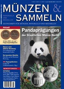 Münzen & Sammeln Ausgabe 11/2020 - Cover