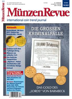 MünzenRevue Ausgabe 10/2021 - Cover